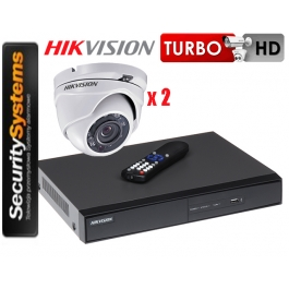 Zestaw monitoringu Hikvision Turbo HD DS-2CE56D0T-IRM (2,8mm) (x2) 2Mpx.