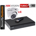 Zestaw monitoringu Hikvision Turbo HD DS-2CE56D0T-IRM (3,6mm) (x4).