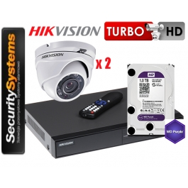 Zestaw monitoringu Hikvision Turbo HD DS-2CE56D0T-IRM (3,6mm) (x2).