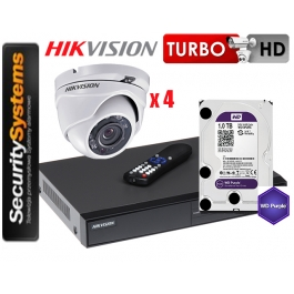 Zestaw monitoringu Hikvision Turbo HD DS-2CE56D0T-IRM (2,8mm) (x4).